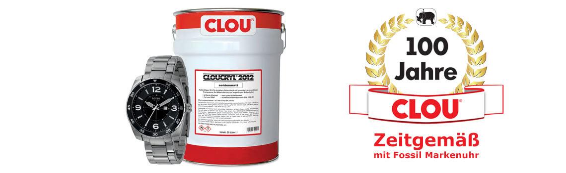 CLOU Jubiläumsaktion mit Fossil Markenuhr